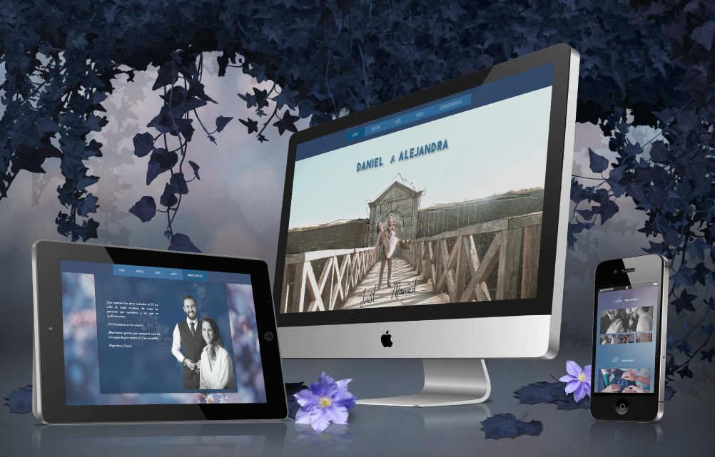 Diseño web bodas A&D