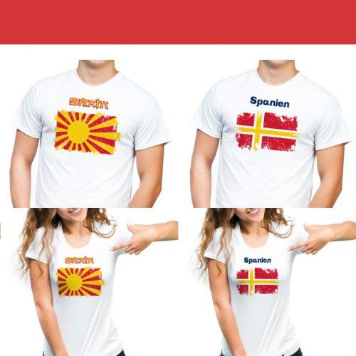 diseño gráfico camisetas banderas