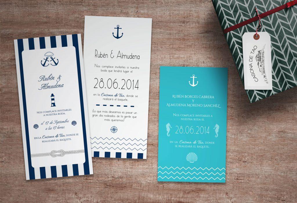 Invitaciones marinero